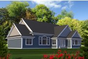 Craftsman Style House Plan - 3 Beds 2 Baths 2154 Sq/Ft Plan #70-1215 Exterior - Rear Elevation
