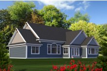 Craftsman Exterior - Rear Elevation Plan #70-1215