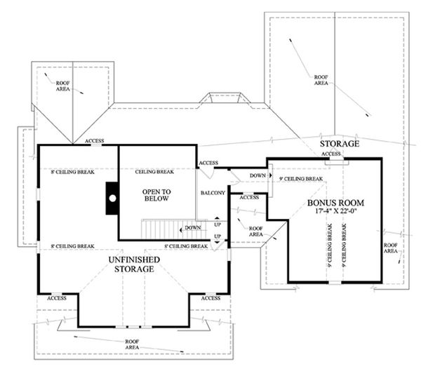Farmhouse Floor Plan - Upper Floor Plan Plan #137-266