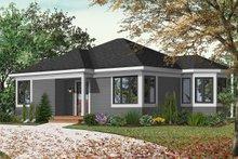 Home Plan Design - Cottage Exterior - Front Elevation Plan #23-166