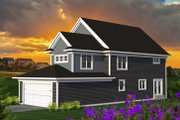 Craftsman Style House Plan - 4 Beds 3 Baths 2588 Sq/Ft Plan #70-1226 Exterior - Rear Elevation
