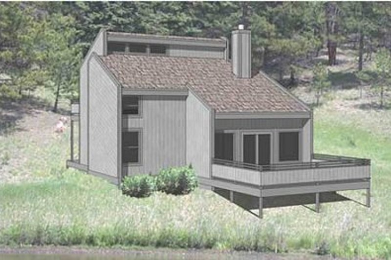 Contemporary Style House Plan - 3 Beds 2 Baths 1155 Sq/Ft Plan #116-110 Exterior - Front Elevation