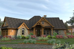 Architectural House Design - Craftsman house plan - Mountain Lodge Style by David Wiggins 2000 sft