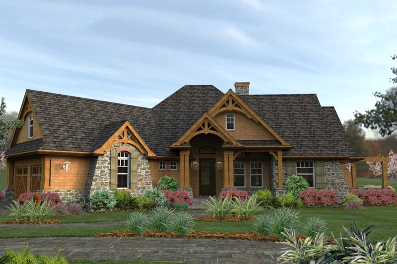 Dream House Plan - Craftsman house plan - Mountain Lodge Style by David Wiggins 2000 sft