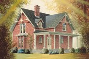 Victorian Style House Plan - 3 Beds 2 Baths 1663 Sq/Ft Plan #23-2093 Exterior - Front Elevation