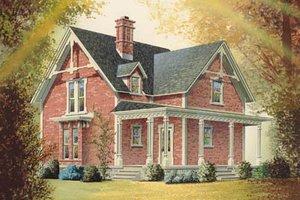 Victorian Exterior - Front Elevation Plan #23-2093