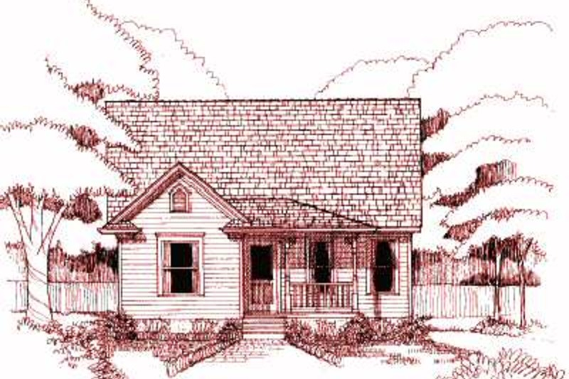 Cottage Exterior - Front Elevation Plan #79-155 - Houseplans.com