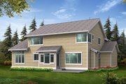 Craftsman Style House Plan - 3 Beds 3 Baths 2512 Sq/Ft Plan #132-111 Exterior - Rear Elevation