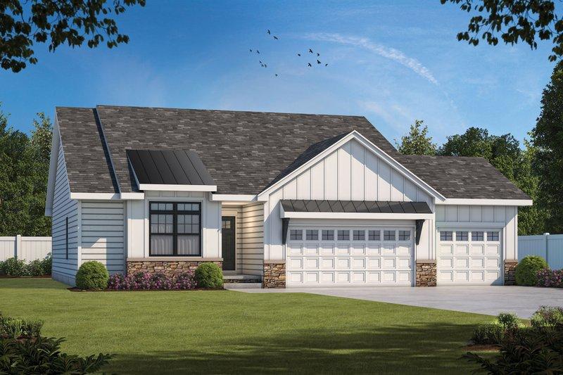 House Design - Modern Exterior - Front Elevation Plan #20-2475
