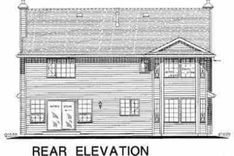 Traditional Exterior - Rear Elevation Plan #18-232 - Houseplans.com