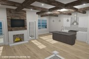 Country Style House Plan - 4 Beds 3 Baths 3757 Sq/Ft Plan #930-514 Interior - Family Room