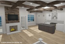 Architectural House Design - Country Interior - Family Room Plan #930-514