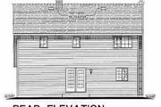 Craftsman Style House Plan - 3 Beds 2.5 Baths 1908 Sq/Ft Plan #18-235 Exterior - Rear Elevation