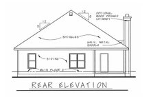 House Design - Victorian Exterior - Rear Elevation Plan #20-2225