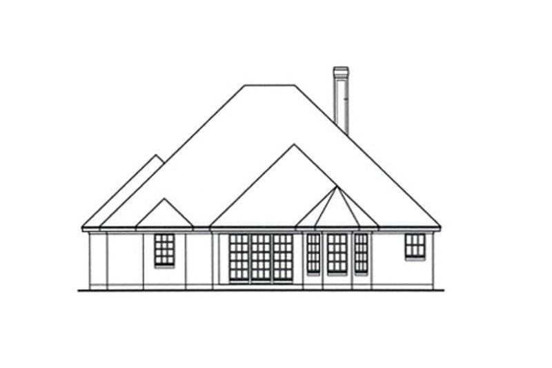 Traditional Exterior - Rear Elevation Plan #42-386 - Houseplans.com
