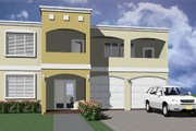 Modern Style House Plan - 3 Beds 2.5 Baths 2215 Sq/Ft Plan #495-4 Exterior - Other Elevation