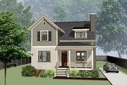 Craftsman Style House Plan - 3 Beds 2.5 Baths 1757 Sq/Ft Plan #79-299 Exterior - Front Elevation