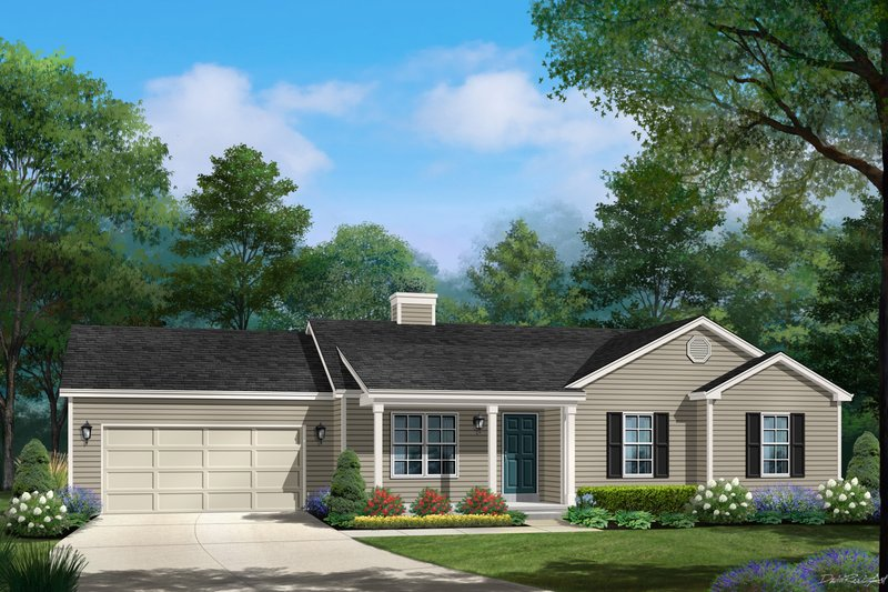 Architectural House Design - Ranch Exterior - Front Elevation Plan #22-620