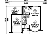 Traditional Style House Plan - 2 Beds 1 Baths 1105 Sq/Ft Plan #25-4470 Floor Plan - Main Floor Plan