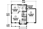 Country Style House Plan - 3 Beds 1 Baths 1700 Sq/Ft Plan #25-4570 Floor Plan - Main Floor Plan