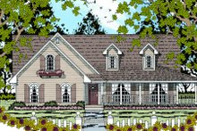 Dream House Plan - Farmhouse Exterior - Front Elevation Plan #42-364