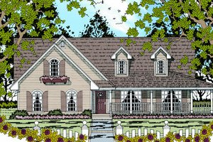 Home Plan - Farmhouse Exterior - Front Elevation Plan #42-364