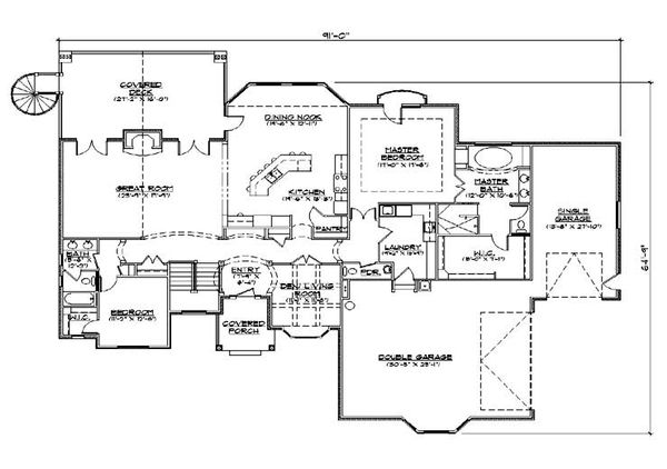 European Floor Plan - Main Floor Plan Plan #5-353