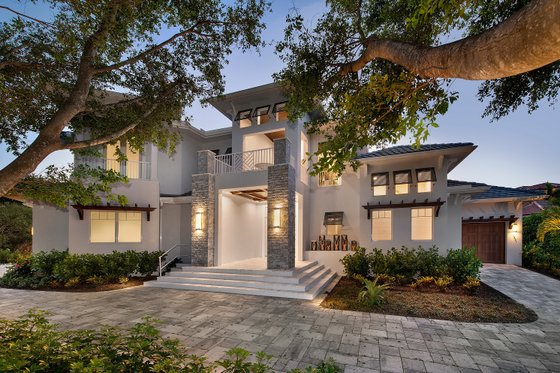 Contemporary Exterior - Front Elevation Plan #548-25
