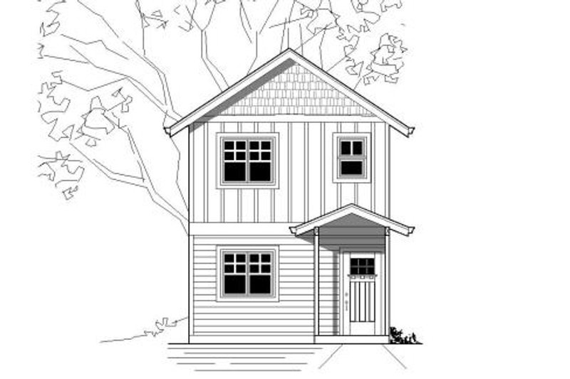Craftsman Style House Plan - 1 Beds 1 Baths 512 Sq/Ft Plan #423-22