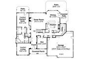 Craftsman Style House Plan - 5 Beds 3.5 Baths 3596 Sq/Ft Plan #124-481 Floor Plan - Main Floor Plan