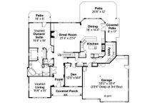 Craftsman Floor Plan - Main Floor Plan Plan #124-481