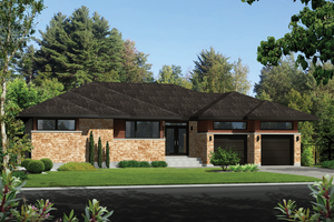 Contemporary Exterior - Front Elevation Plan #25-4911