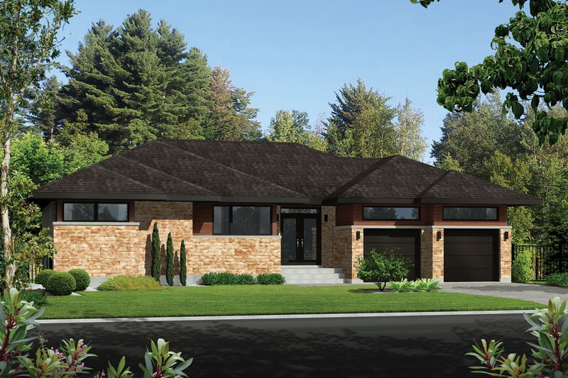 Home Plan - Contemporary Exterior - Front Elevation Plan #25-4911