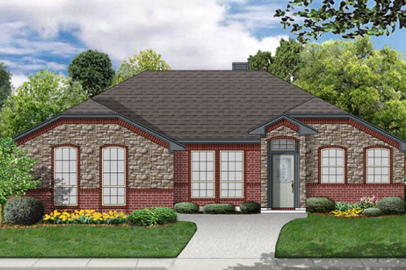 Traditional Exterior - Front Elevation Plan #84-547 - Houseplans.com