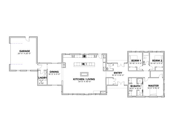 Modern Floor Plan - Main Floor Plan #1076-1
