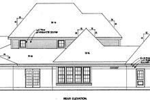 Dream House Plan - European Exterior - Rear Elevation Plan #410-384