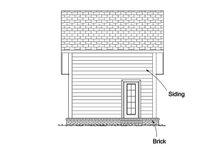 Cottage Exterior - Rear Elevation Plan #513-2183