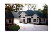 European Style House Plan - 3 Beds 2.5 Baths 2770 Sq/Ft Plan #429-2 Exterior - Other Elevation