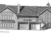 Traditional Style House Plan - 3 Beds 2.5 Baths 4481 Sq/Ft Plan #70-550 Exterior - Rear Elevation