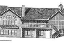 House Design - Traditional Exterior - Rear Elevation Plan #70-550