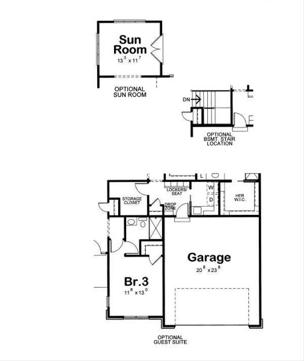 Traditional Floor Plan - Other Floor Plan Plan #20-2089