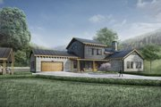 Modern Style House Plan - 3 Beds 2.5 Baths 2754 Sq/Ft Plan #924-6 Exterior - Front Elevation