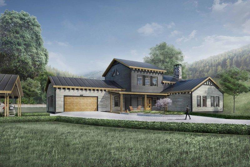 Home Plan - Modern Exterior - Front Elevation Plan #924-6