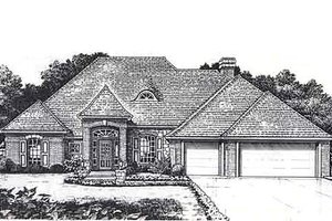 European Exterior - Front Elevation Plan #310-817