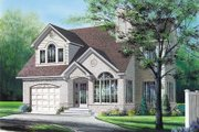 European Style House Plan - 3 Beds 2.5 Baths 1898 Sq/Ft Plan #23-247 Exterior - Front Elevation