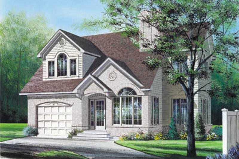 Architectural House Design - European Exterior - Front Elevation Plan #23-247