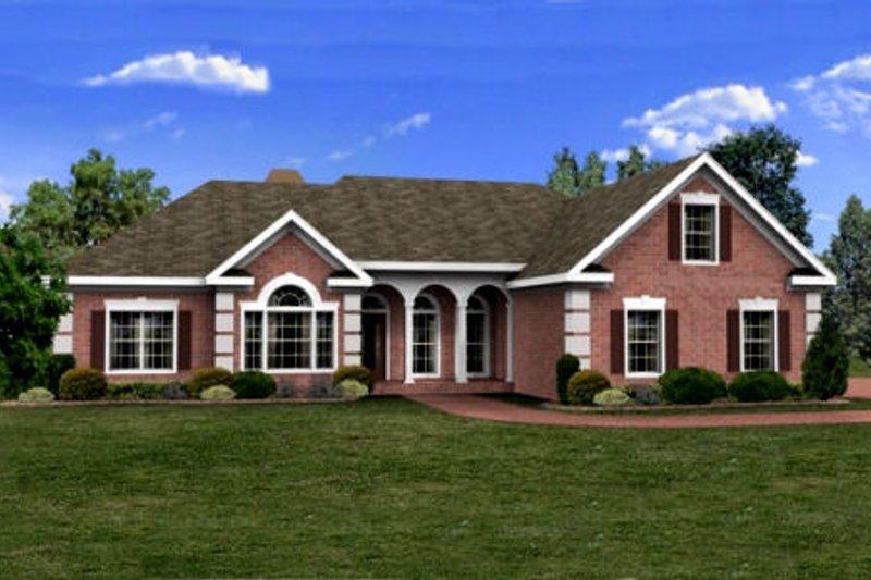 Southern Style House Plan - 3 Beds 2.5 Baths 2071 Sq/Ft Plan #56-236