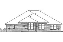 Home Plan - Traditional Exterior - Rear Elevation Plan #310-690