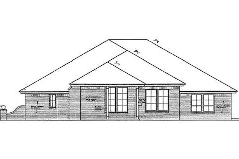 Traditional Exterior - Rear Elevation Plan #310-690 - Houseplans.com