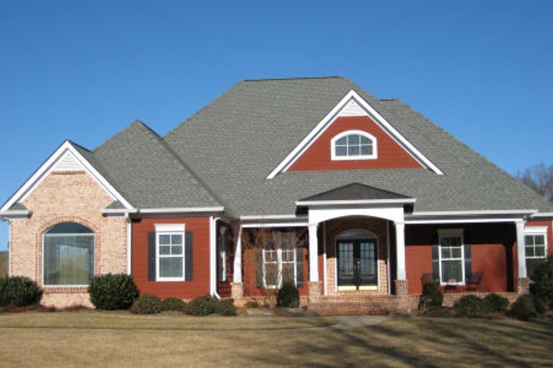 Dream House Plan - European Exterior - Front Elevation Plan #437-41